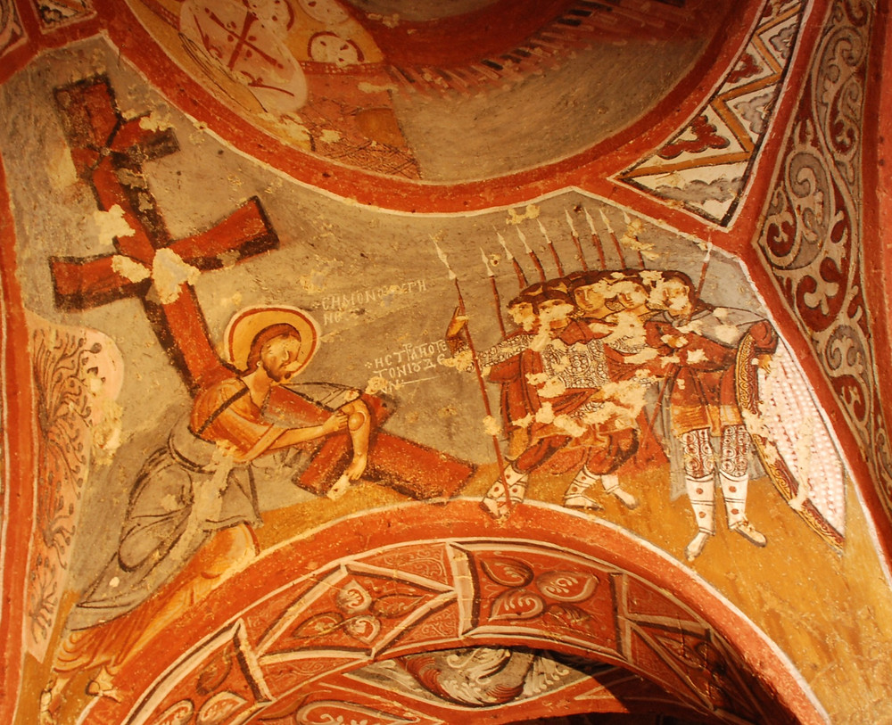 Sandal Church - Jesus Carrying the Cross