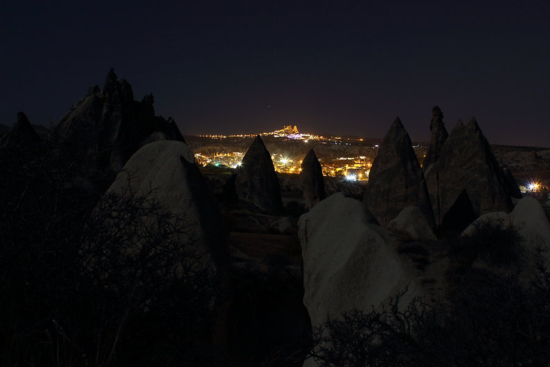 Hot Air Balloon, Cappadocia, göreme, red valley, moonlight, hike, night,view