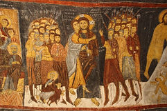 Cave church fresco balloon cappadocia