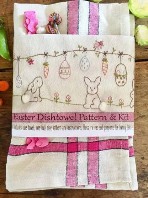 Bareroots Easter Dishtowel Pattern and Kit
