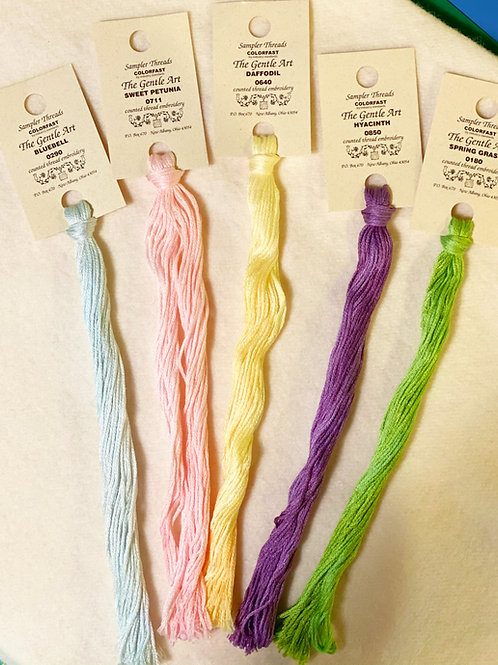 The Gentle Art Sampler Threads - Spring Collection -5 Piece