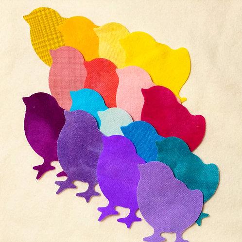 Die Cut Easter Chicks - 16 piece