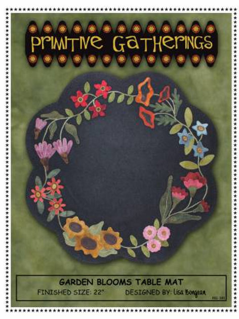 Primitive Gatherings Garden Blooms Table Mat