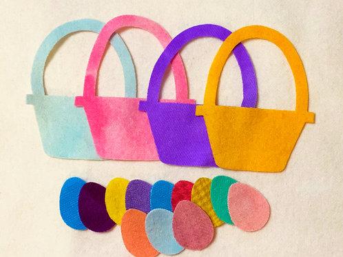 Die Cut Easter Basket & Eggs - 16 piece