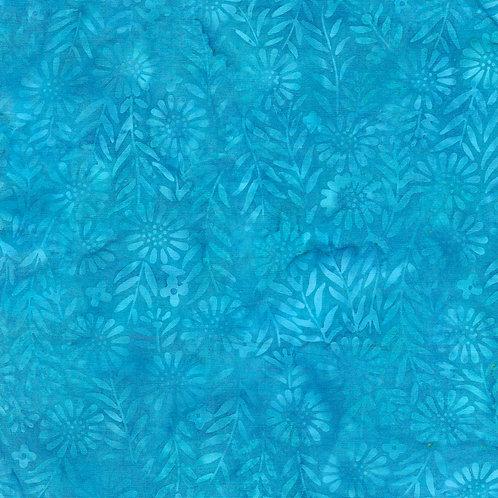 Sewing Sewcial Aqua Flowers - 4 Yards