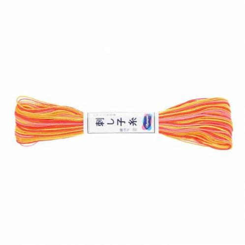 Olympus Sashiko Thread - Varigated Orange/Yellow/Pink