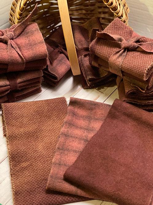 Wool Roll - Shades of Brown - Auburn