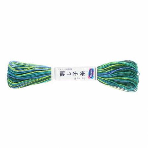 Olympus Sashiko Thread - Varigated Blue/Green