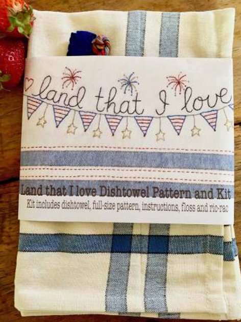 Bareroot LandThat I Love Dishtowel Kit