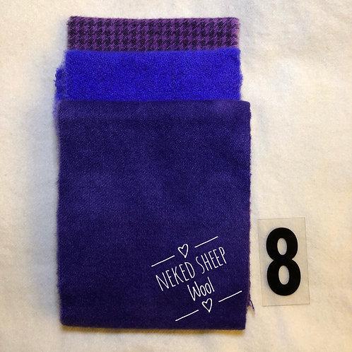 3 Piece Mini Roll Purple