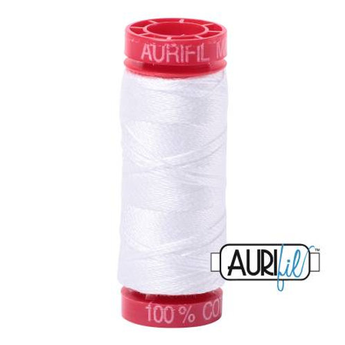Aurifil 12wt Thread - White