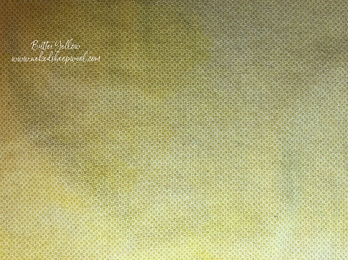 Fat Quarter Hand Dyed Wool  - Butter Yellow Weave