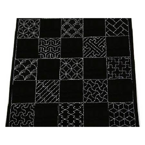 Sashiko Pre-printed Multi Pattern Cloth Traditional Designs Navy