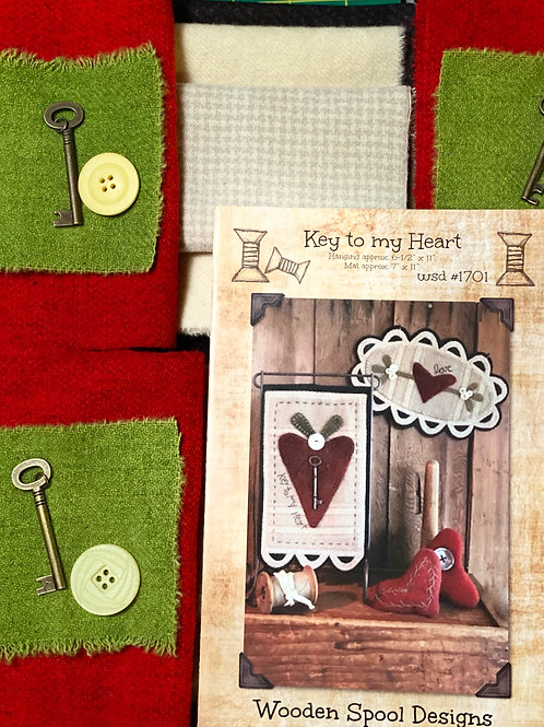 Wooden Spool Designs - Key to my Heart - KIT