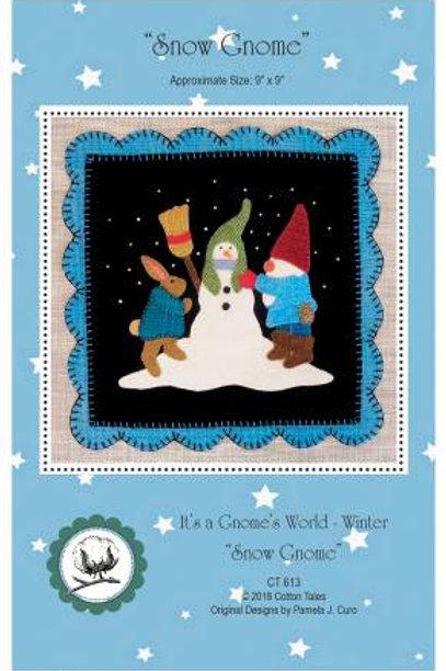 It's a Gnome's World - Winter - Snowman Gnome - PATTERN