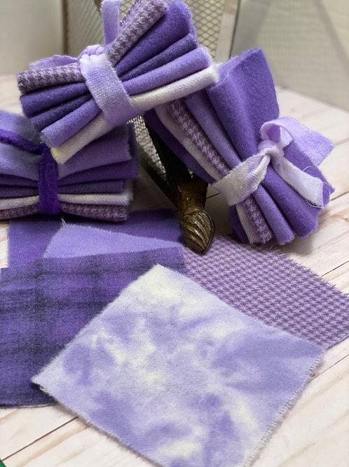 Wool Roll - Purples Crocus