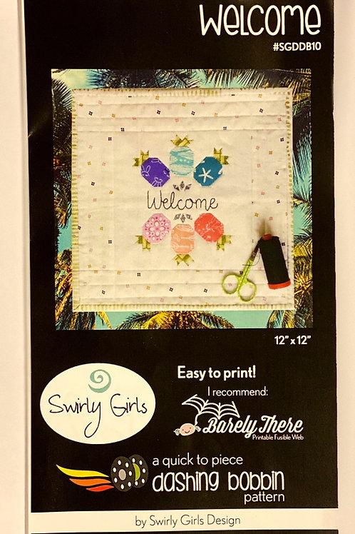 Swirly Girls Design Dashing Bobbin ~ Welcome
