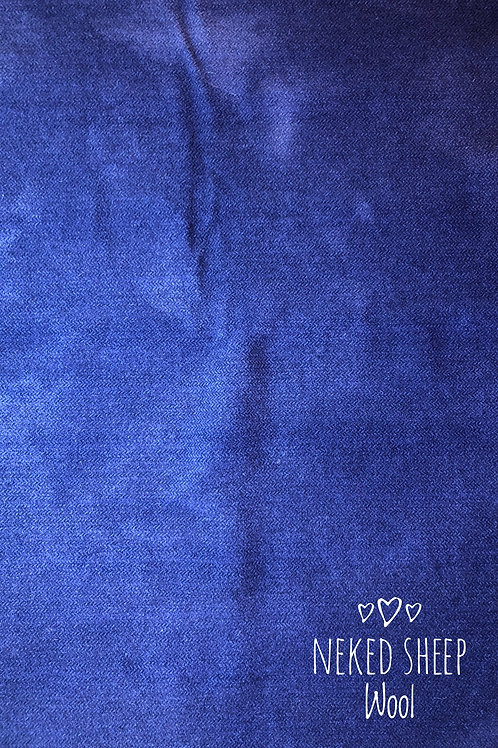 Half Yard Hand Dyed Wool  - Bright Blue Mottled