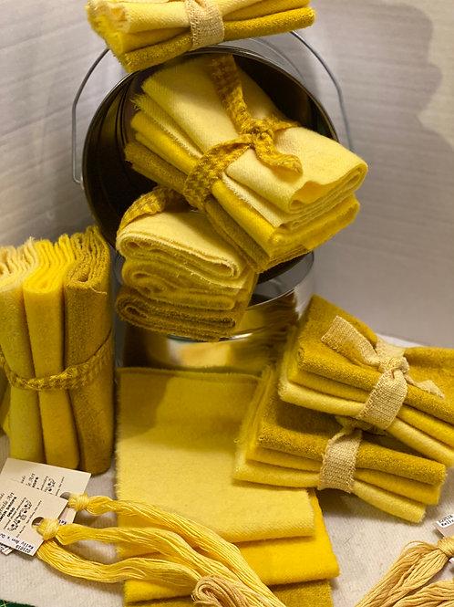 Wool Roll - 3 Yellows