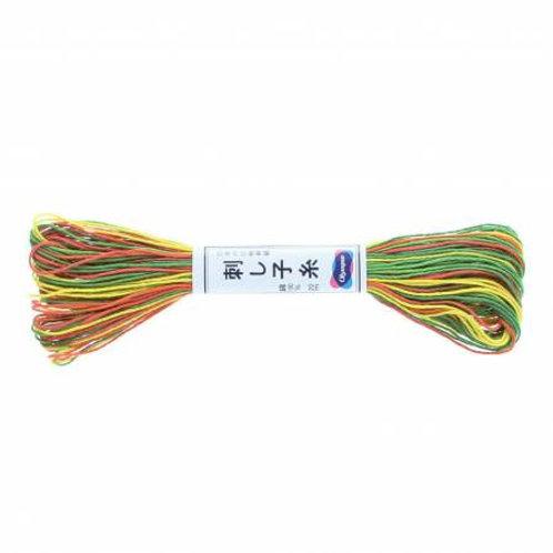 Olympus Sashiko Thread - Varigated Orange/Yellow/Green