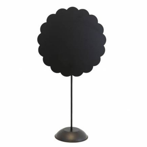 Black Scalloped Star Stand