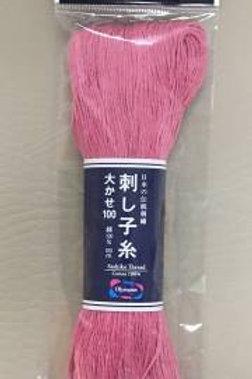 Olympus Sashiko Thread - Large Skein Rose Pink