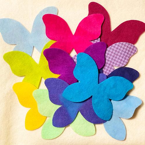 Die Cut Butterflies - 16 pc