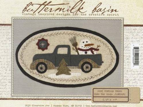Buttermilk Basin Mini Vintage Truck - January