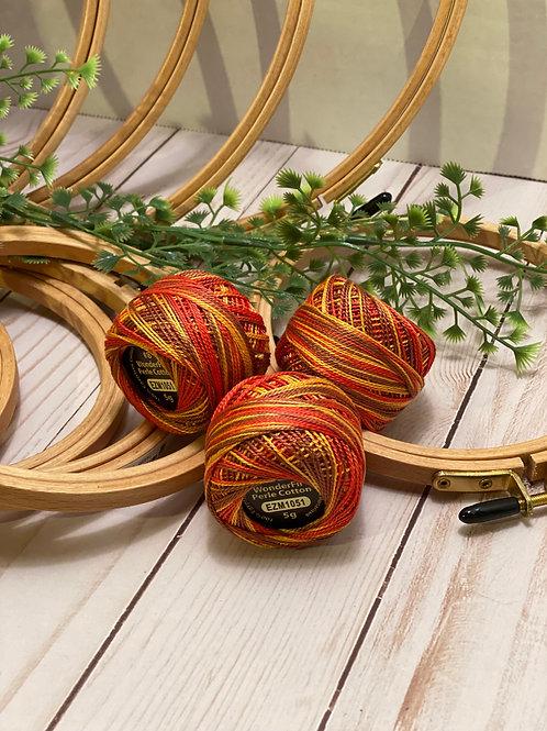 Wonderfil Perle Cotton - #8 - Fire Breather 1051