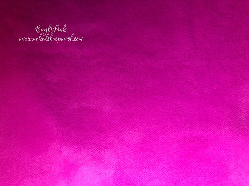 Fat Quarter Hand Dyed Wool  - Bright Pink