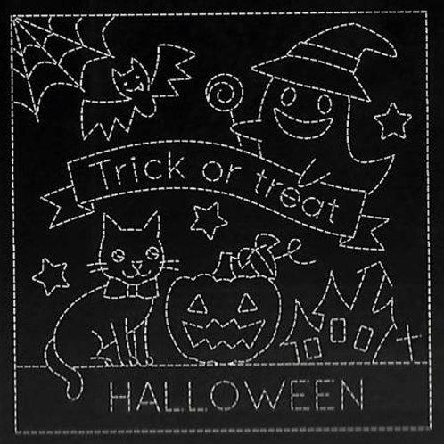Sashiko Sampler - Halloween - Black - Kit