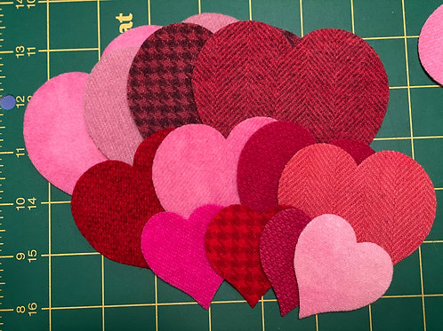 Die Cut Hearts - MIXED Sizes