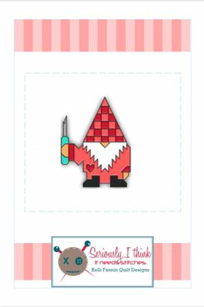 Gnomeo Enamel Pin with Seam Ripper
