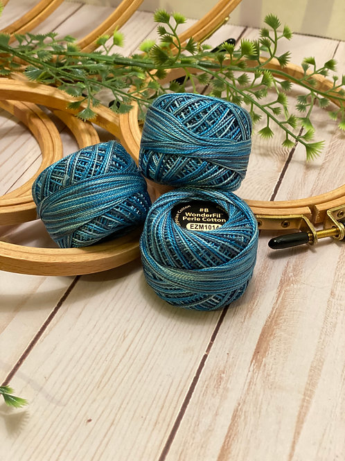 Wonderfil Perle Cotton - #8 - Azure Eyes 1014