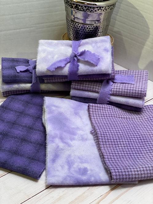 Hand Dyed Wool Roll - 3 Purple