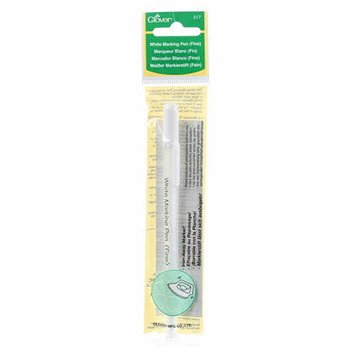 Water Soluble or Iron Off Marking Pen White