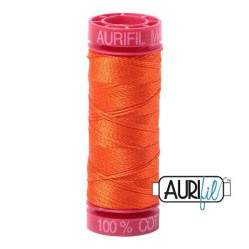 Aurifil 12wt Thread - Neon Orange