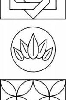 Mini Stencils - 3 Designs - Pepper Cory - Quilting - Sashiko