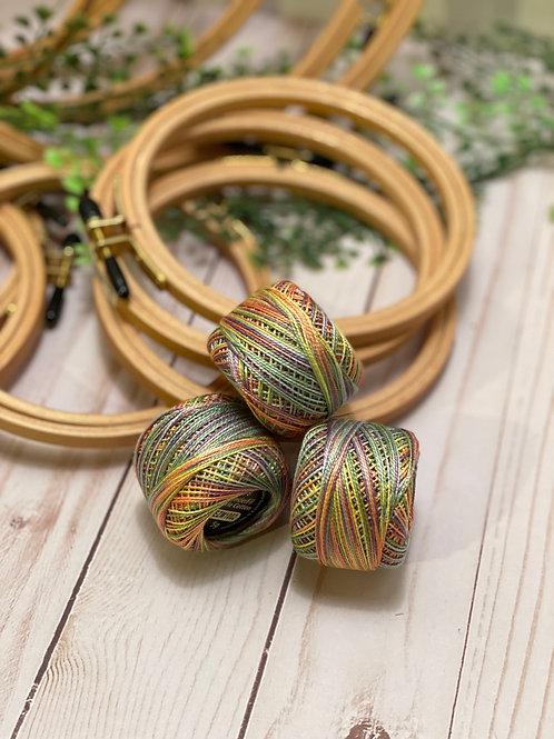 Wonderfil Perle Cotton - #8 - Tropical Garden 1002