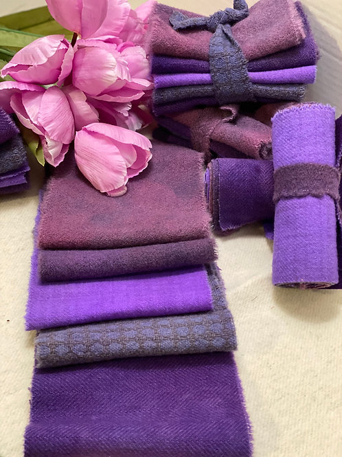 Hand Dyed Wool Roll - Grapes off the Vine