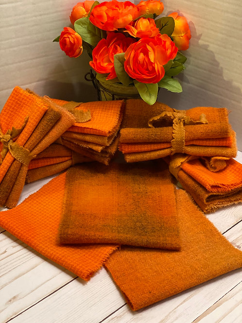Wool Roll - Hand Dyed Wool - Orange Blossoms