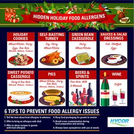 Hidden Allergens in Christmas meals