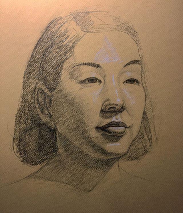 Live Model Sketch VII