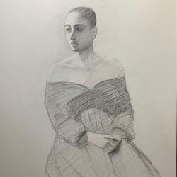Live Model Sketch VIII