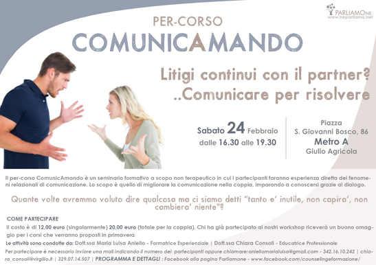 """Percorso di comunicazione nella coppia """"ComunicAmando"""""""