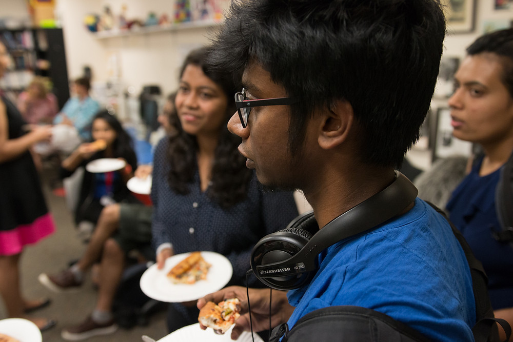 Students at an HCIL Brown Bag Lunch