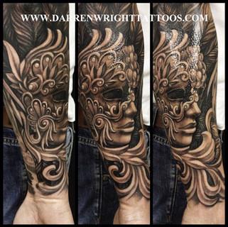 tattoo-sleeve-venetian-mask-darren-wrigh