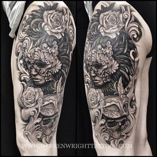 masquerade-mask-leg-tattoo