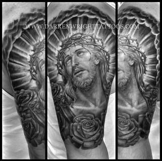 jesus-tattoo-christ-tattoos-roses