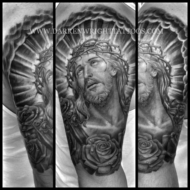 jesus-tattoo-christ-tattoos-roses